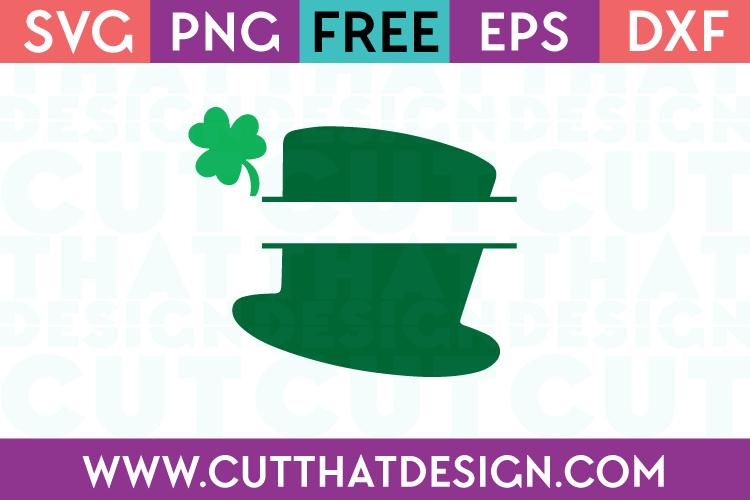 Free Split Hat with Shamrock SVG File