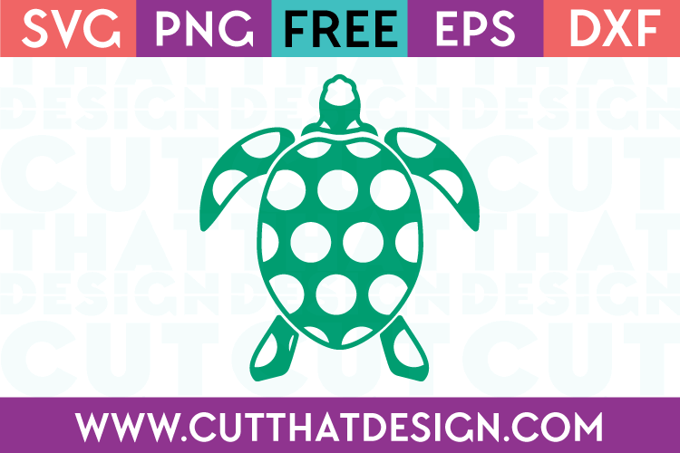 Free polka dot turtle svg