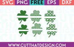 Free Shamrock SVG Cutting Files