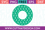 Free circle monogram frame svg