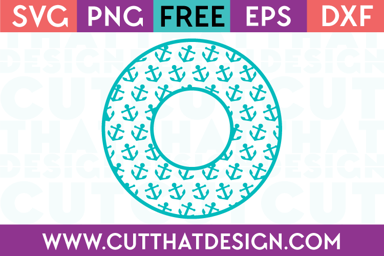 Anchor Circle Monogram Frame Design 2