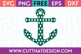 Free Patterned Anchor SVG Diamond