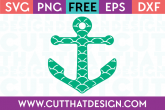 Free Anchor SVG Cutting File Scalloped Pattern