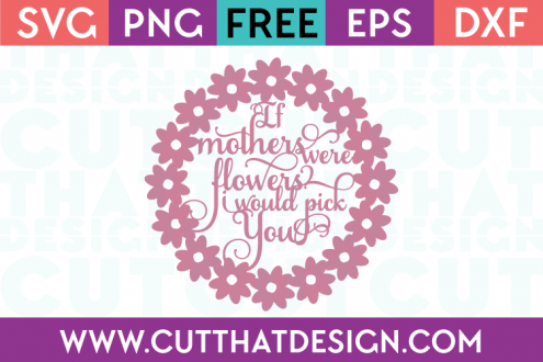 Free Mothers Day Word Art SVG