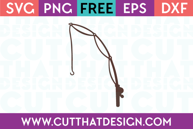 Free Fishing Pole SVG