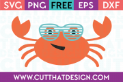 Free Summer Crab SVG
