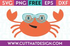 Free Summer Crab SVG