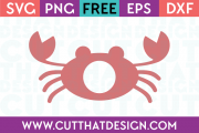 Free Monogram SVG Design Crab