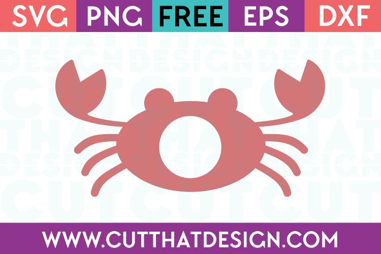 Free Monogram SVG Design Crab