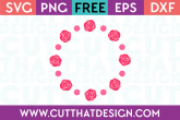 Free SVG Cutting Circle Frames