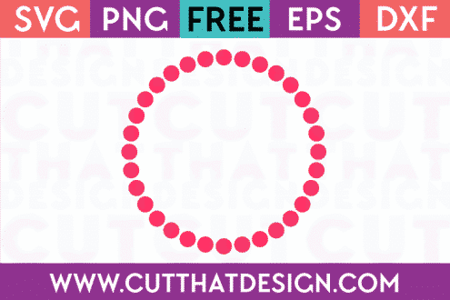 Free Polka Dot Circle Frame for Silhouette