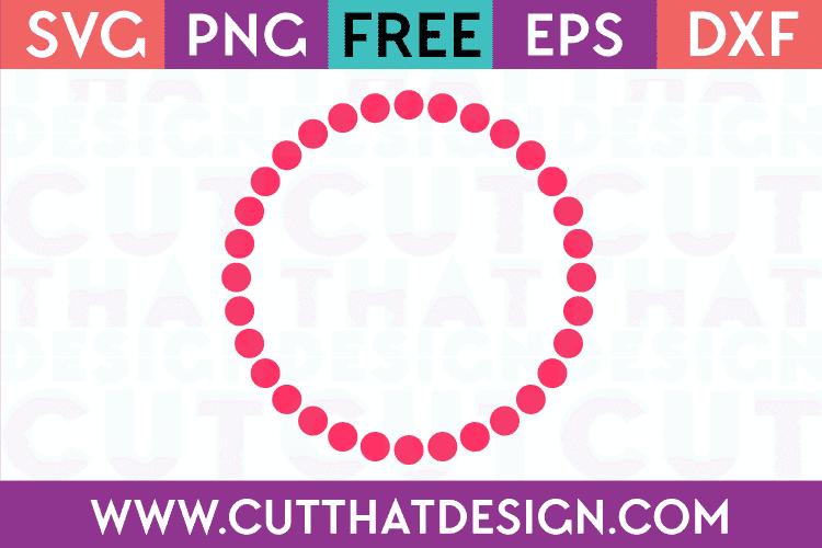 Free Polka Dot Circle Frame for Silhouette