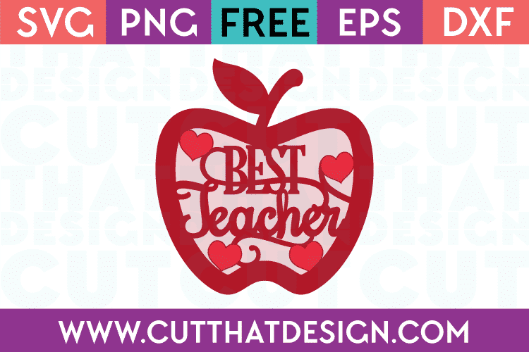 Teacher apple svg free