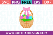 Free Easter Basket with Bow SVG Cutting File