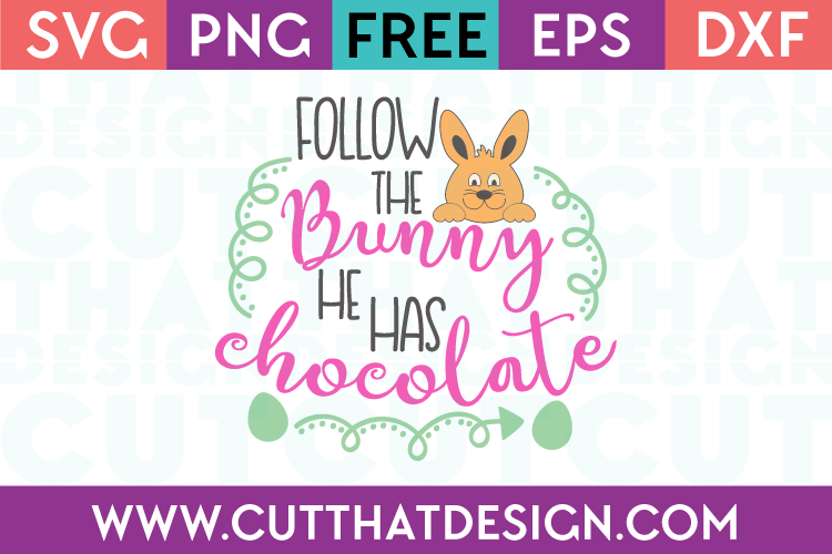 Free Easter Cutting Files Easter Chocolate Bunny