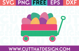 Free Easter Eggs Little Wagon SVG