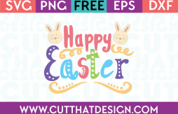 Free Happy Easter Quote SVG Cutting File
