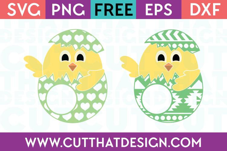 Easter Chicks SVG Free