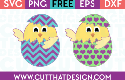 SVG Easter Chicks