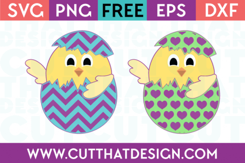 SVG Easter Chicks