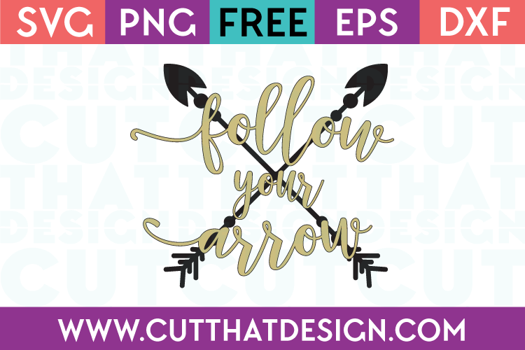 SVG Free Follow your Arrow