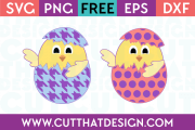 Free Patterned Chicks in Eggs SVG Cutting Files