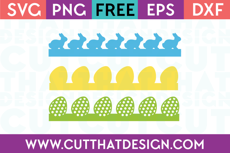 Free Easter Borders SVG