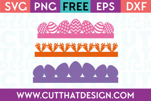 SVG Easter Borders Free