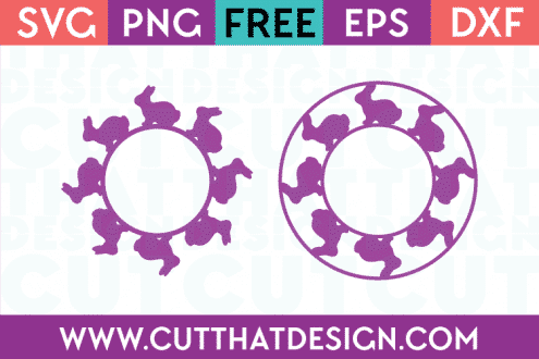 Free Easter Circle Monogram Frames SVG