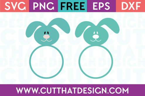 Free Easter Bunny Monogram SVG Files