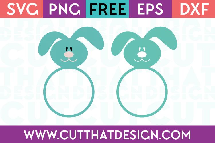 Free Easter Bunny Monogram SVG Files