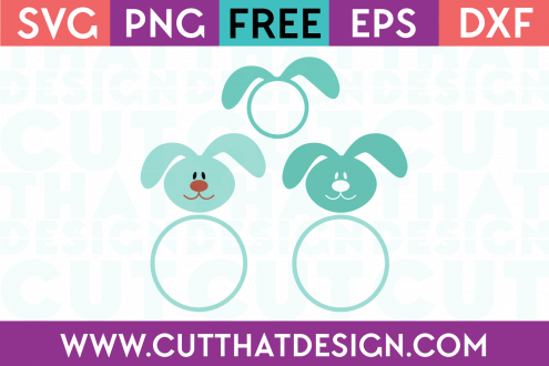 Free Easter Bunny Head SVG