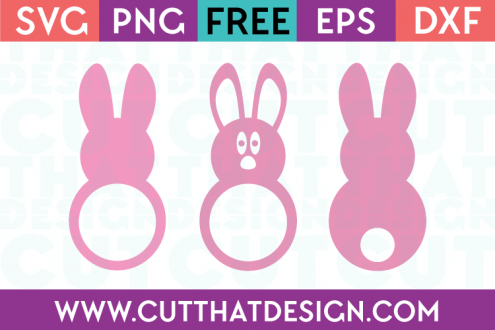 SVG Free Easter Bunny Monogram Set