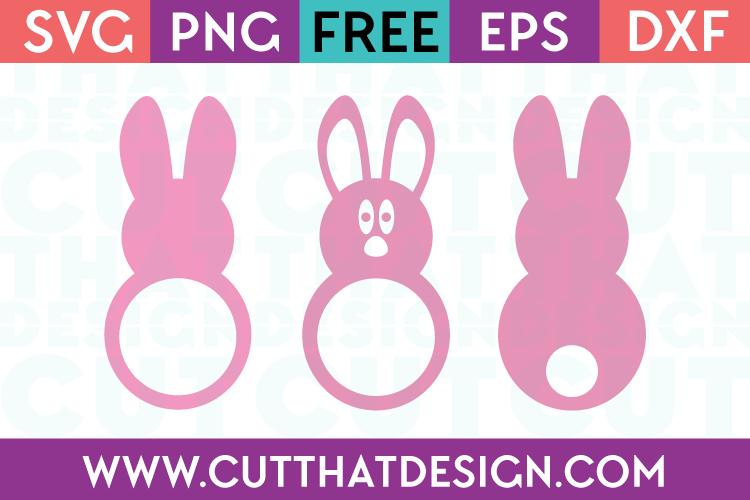 SVG Free Easter Bunny Monogram Set