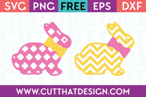 Cuts Easter Free SVG Bunny Bow