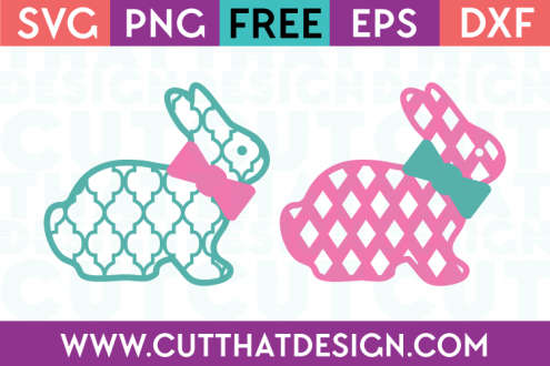Free SVG Bunny Moroccan Diamond SVG