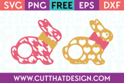 Heart Houndstooth Easter SVG Free