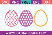 Free Easter Egg SVG Patterned Eggs