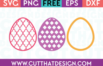 Free Easter Egg SVG Patterned Eggs