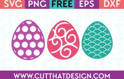 Easter SVG Cuts Downloads Free Egg Patterns