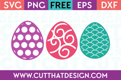 Easter SVG Cuts Downloads Free Egg Patterns