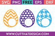 Free Monogram Easter Egg SVG Files
