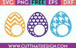 Free Monogram Easter Egg SVG Files