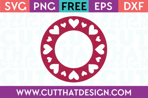 Free Heart Circle Monogram SVG