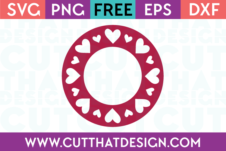 Free Heart Circle Monogram SVG