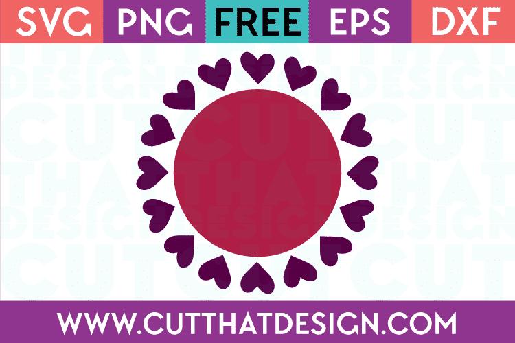 Free SVG Valentines Circle Frames