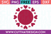 Free Heart Circle Frame SVG