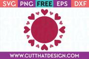 Free Heart Circle Frame SVG