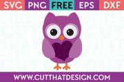 Valentine Owl Free SVG File