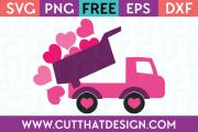 Free Valentines Truck SVG